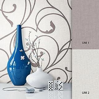 NEWROOM Barocktapete bunt Vliestapete klassisch,Modern schöne moderne und edle Design Optik , inklusive Tapezier Ratgeber