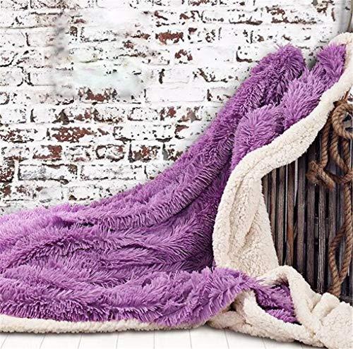 STEAM PANDA Decken Für Mädchen Schlafzimmer Plüsch Einzelbett Shaggy Babydecke Super Luxury PV 130 * 160 cm Waschbar