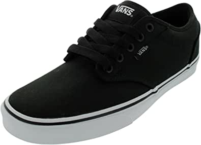 Vans Atwood, Sneaker Uomo, Nero (Canvas/Black/White), 42.5 EU