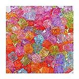 YF, quadratisch, 300Stück Farbe Mixed Kristall Acryl Perlen Schmuckherstellung für Heimwerker/Halskette/Armbänder/Knöchel Dekoration 7x 14mm
