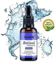 Retinol Serum von Neutriherbs 100% natürlichen Inhaltsstoffen mit 2,5% Retinol vitamin E, Hyaluronsäure/Bestes Anti-Aging, Anti Falten für Haut, Gesicht, Dekolleté und Körper Für Menner und Frauen