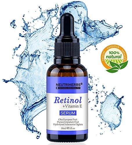 Retinol Serum von Neutriherbs 100% natürlichen Inhaltsstoffen mit 2,5% Retinol vitamin E, Hyaluronsäure/Bestes Anti-Aging, Anti Falten...