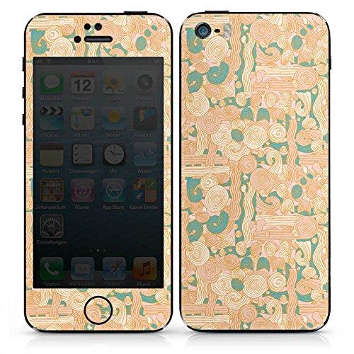 Apple iPhone SE Case Skin Sticker aus Vinyl-Folie Aufkleber Zengarden Blumen Muster DesignSkins® glänzend