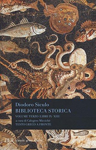 Biblioteca storica. Testo greco a fronte: 3
