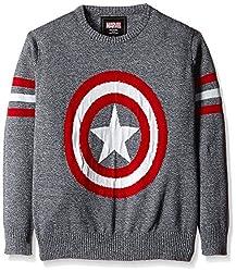 Captain America Boys Sweater (CA1EBW1037_BLUE GRINDLE_5/6)