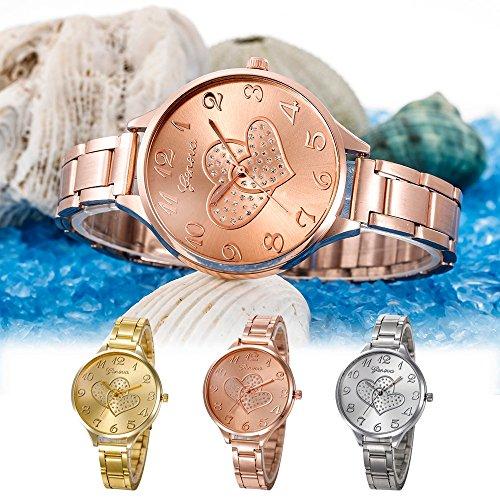 79012fabb497 KanLin1986 Moda mujer cristal de acero inoxidable analógico cuarzo pulsera  reloj. Uno de los relojes Adidas dorado disponibles ...