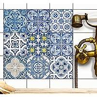 Carrelage Stickers Autocollant | carrelage adhesif mural - salle de bains et cuisine | stickers muraux carreaux - cuisine et salle d'eau | Carrelage adhésif - Design Classique - 15x15 cm - 9 pièces