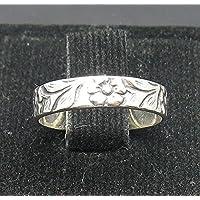 Piccolo anello in argento con fiore massiccio 925 R000957