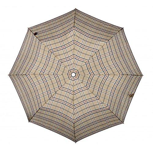 Knirps 878–T2Duomatic Regenschirm, Beige (Check Tan)  - 878-539