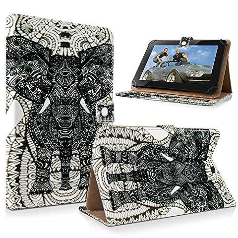 SONY XPERIA Z Z2 Z3 Z4 Tablet Baureihe Hülle mit Standfunktion Elefant (grau)