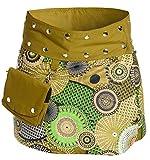 ufash Minirock aus Indien, Sommerrock kurz, Wenderock, Wickelrock Goa Gipsy Hüftschmeichler, Design 19
