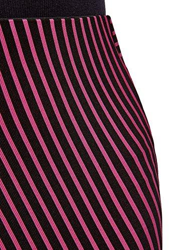 oodji Ultra Damen Jersey-Rock mit Asymmetrischem Saum Rosa (2947S)