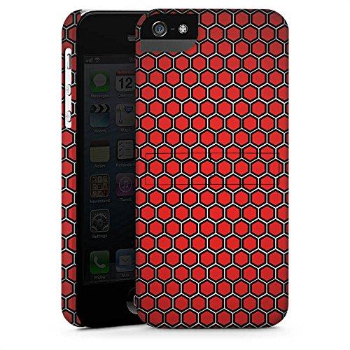 Apple iPhone X Silikon Hülle Case Schutzhülle Red Hexagon Pattern Punkte Muster Look Premium Case StandUp