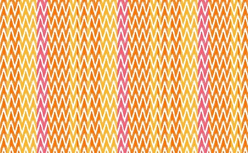 LOVELY CASA IKATI Tapis Exterieur 120X180 CM, Polyester, Orange, 80 x 150 cm