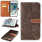 DENDICO Coque iPhone 8 Plus/iPhone 7 Plus, Housse Étui en Cuir Ultra Mince Anti Choc...