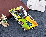 Surakey Coque Compatible avec Samsung Galaxy A8 2018,Nuit Luminous Effet Fluorescent TPU Housse Silicone Transparent Coque Souple Housse Étui Protection TPU Case Cover (Campanule Chouette)