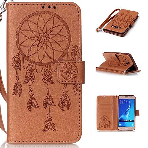 New Style gepresst Embossing Blumen Windchime Muster Retro Folio Flip Stehen Wallet Case mit Handschlaufe für Samsung Galaxy J510 ( Color : 14 , Size : Samsung Galaxy J510 ) 10