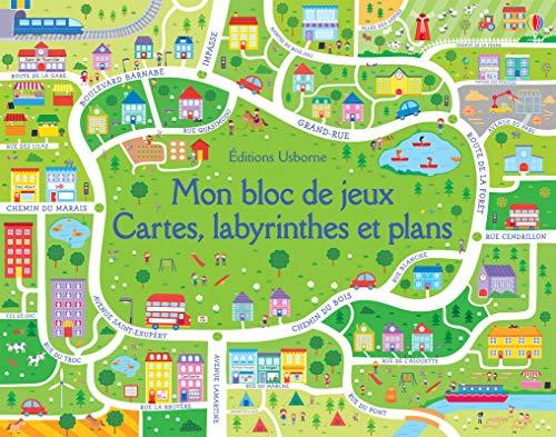 Mon bloc de jeux - Cartes, labyrinthes et plans
