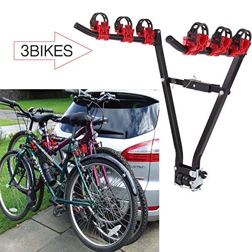 Allright Auto Fahrradträger Heckklappe Auto Fahrrad hinten Mount montiert 3 Räder Bike klappbar (V Typ)