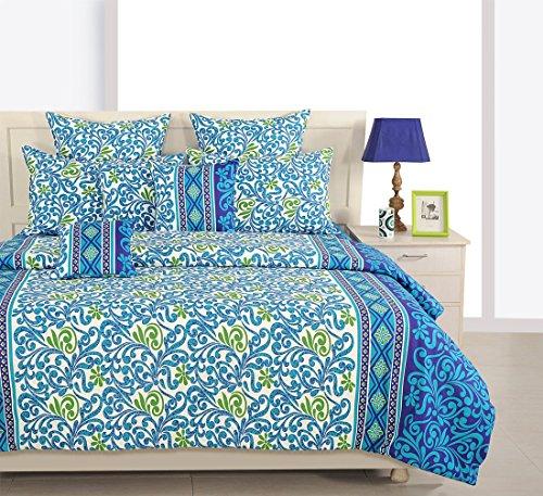 Yuga 8 Stück in Beutel gesetzt Meer blau Baumwollmaterial Tröster Bettwäsche-Set Bett -