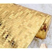 Carta da parati piccola griglia camera da letto soggiorno parete (Wallpaper Piccolo Stripe Wallpaper)