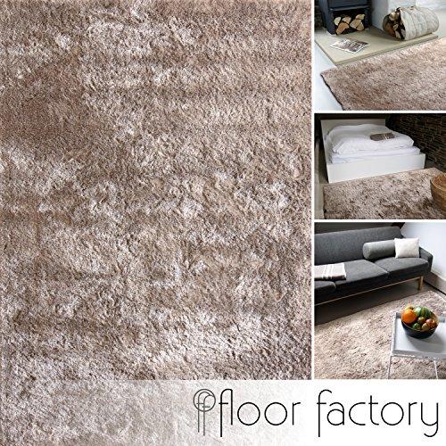 Alfombra moderna Delight taupe / gris pardo 80x150cm - alfombra noble