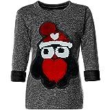 BEZLIT Mädchen Wende-Pailletten Pullover Pulli Bekleidung Langarm 21600 Anthrazit Größe 152