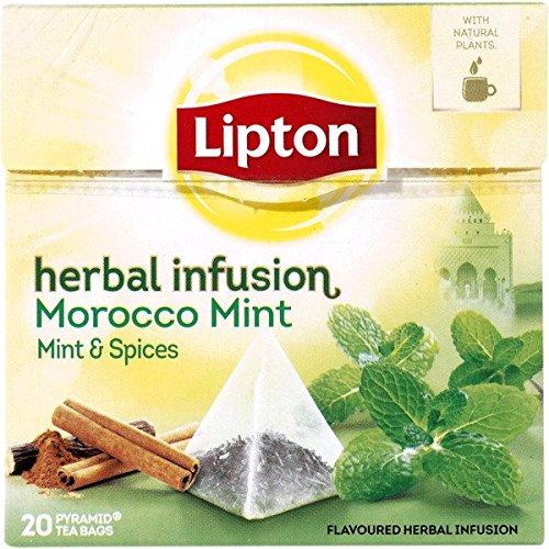 LIPTON - Marokko MINZE Tee (Minze und Gewürzen) - 6 x 20 Pyramidbeutel (gesamt:120 st)