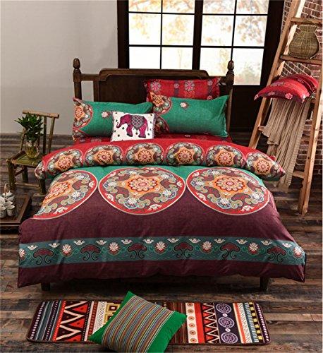 Doppel drei Sätze von Bettwäsche Pflanzen Blumen personalisierte dreiteilige Druck Muster gedruckt Baumwolle nationalen Wind Cover Bett Auskleidungen