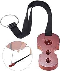 ruputas Holz Cello Endpin Stopper 3holesanchor Displayschutzfolie Anti Rutsch Halter Cello Form weinrot