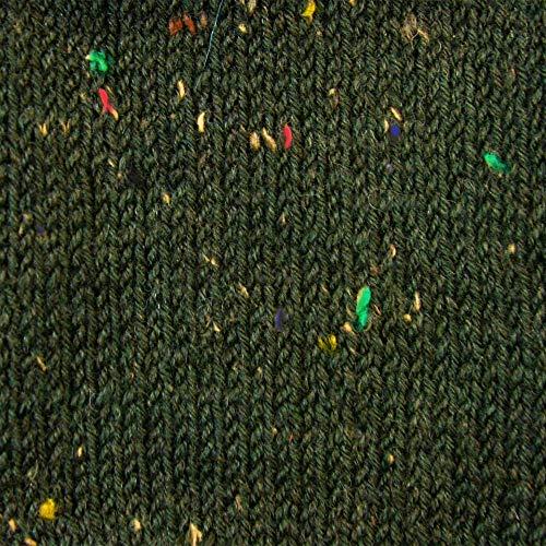 Rellana Socken Wolle, Flotte Socke, Tweed Classic, 4 Fach (Grün) -