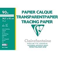 Clairefontaine 97883C - Une pochette de Calque supérieur 10 feuilles 29,7x42 cm 90/95g