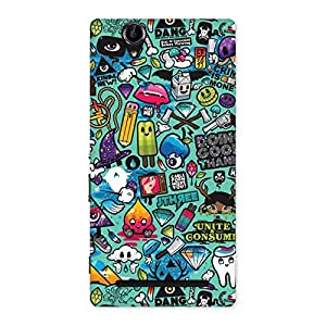 Premier candy Multicolor Back Case Cover for Sony Xperia T2