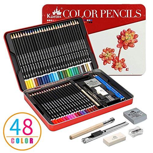 Matite Colorate Set Kasimir 48 Colori Matita Set Matite Disegno Per Bambini Studente Artisti Principianti e Personale di Professionali