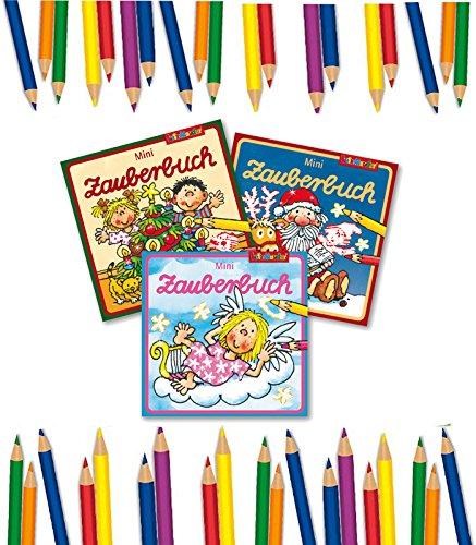 3x verschiedene Mini Weihnachts-Zauberbücher, Zauberheftchen, Zauberbuch, Zaubermalbuch