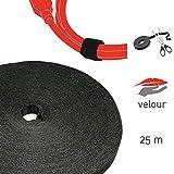 Label-the-cable Klettbandrolle doppelseitig (Haken & Flausch), Klettkabelbinder zuschneidbar, Velours-Qualität, geeignet als Kabelbinder, Klettband/ LTC ROLL STRAP, 25 m x 16 mm, Schwarz, PRO 1210