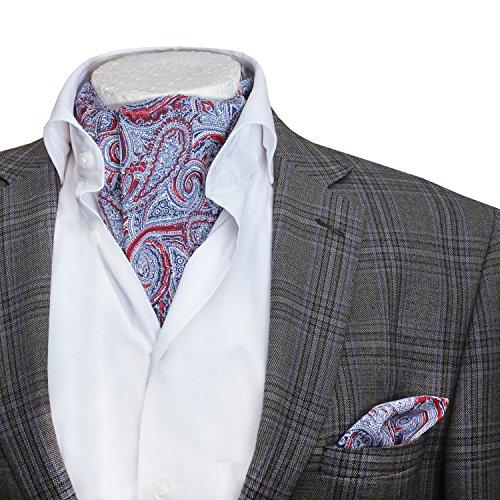 Herren Designer-Stil, italienischer Baumwolle Ascot Einstecktuch und Halstuch-Set, verschiedene Farben/Designs