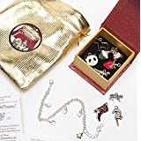 Felix And Wise Cupcake Charm Bracelet Set - With Panda Bear / Strawberry / Teddy Bear And More - Adorable Gift With Bonus Pouch By Felix And Wise - Tiny Treasures