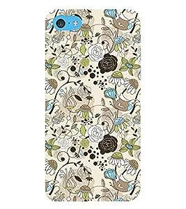 HiFi Designer Phone Back Case Cover Apple iPhone 6 Plus :: Apple iPhone 6+ ( Rose Birds Colorful Pattern Design )