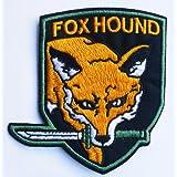 Cookiecastle Metal Gear Solid Foxhound Écusson brodé à coudre/à fixer au fer à repasser
