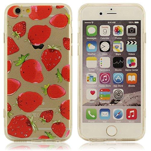 Fruits Pattern Peinture iPhone 6 6S Coque 4.7 Pouce Housse étui De Protection ( iPhone 6 Plus 6S Plus 5.5 Pouce Pas S'adapter ), Flexibles Transparent TPU Matériel, Mince Poids Léger Skin Cover Case A