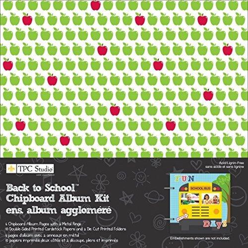 USA Produkt - Back To School Chipboard Album Kit 8 X8 - Chipboard Album Kit