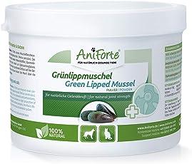 AniForte Grünlippmuschel-Pulver 250g für Hunde und Katzen, Reines Grünlippmuschel-Extrakt Perna Canaliculus, Muschel-Extrakt ohne Zusätze oder Konservierungsmittel, Natürlich Effektiv