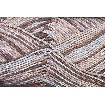 Grundl 861-196 Quick Pelote de laine en coton Marron/multicolore 50g