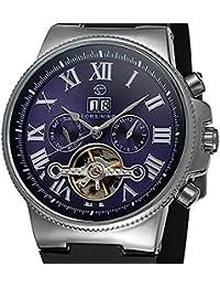 e8f9713c3ec joyliveCY Automático Esqueleto Reloj mecánico automático 4 manos FECHA  Tourbillon hombres reloj