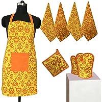 lushomes esenciales de cocina olla de algodón titular de la toalla delantal guante manopla - Conjunto de 8 piezas