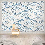 gthytjhv arazzi Decor Collection, Mountain Landscape Mountain Nature Landscape Adventure Winter Art Bedroom Living Room Dorm Wall Hanging Tapestry Polyester & Polyester Blend