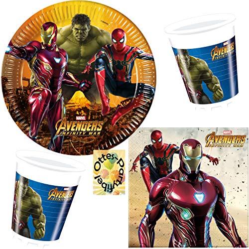 HHO Avengers Infinity War 36tlg. für 8 Gäste Teller Becher Servietten