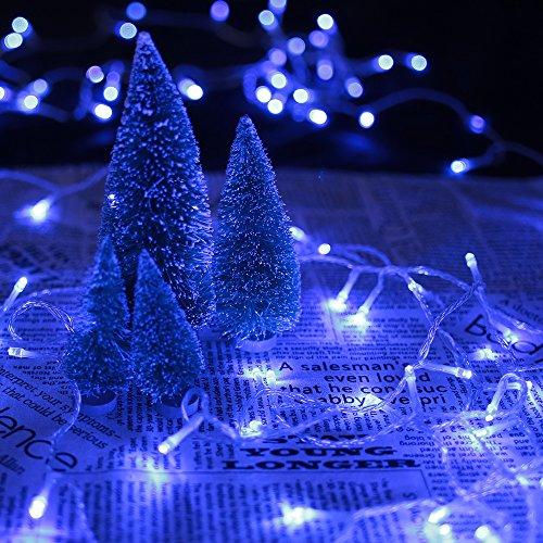 HG® 60M 600 LED Lichterketten Blau 31V Weihnachtschmuck Weihnachtsbeleuchtung Wasserdicht 8 Funktiontyp Memory Weihnachtsfest Party Festlich Tannenbaum Aussen Garten Fassaden Fenster Schaufenster