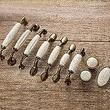 Tiradores de puerta de cerámica Antigua grieta Manijas de gabinete de cocina Manijas de vintage Tiradores y perillas Tiradores de muebles de metal Tiradores de cajones